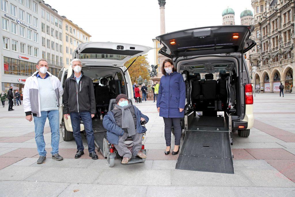 Herr Bachmann, Herr Jung-Grundmann, Behindertenbeauftragter Utz, Dritte Bürgermeisterin Dietl