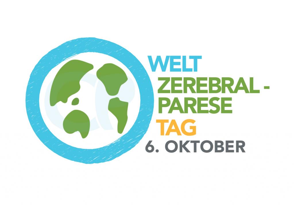 Logo mit Weltkugel zum Welt-Zerebralparese-Tag