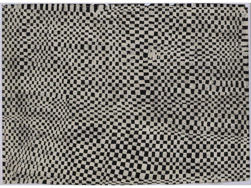 Bild mit schwarz-weißem Karo-Muster